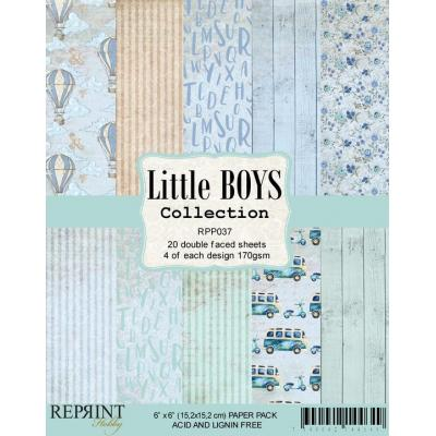 Reprint Little Boys Designpapier - Paper Pack