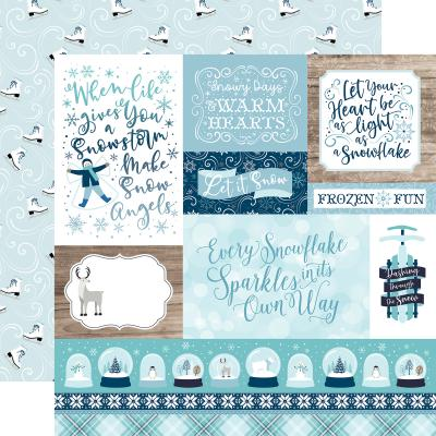 Echo Park Winter Magic Designpapier - Multi Journaling Cards