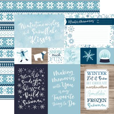 Echo Park Winter Magic Designpapier - 4 x 6 Journaling Cards