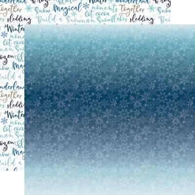 Echo Park Winter Magic Designpapier -  Icy Snowflakes