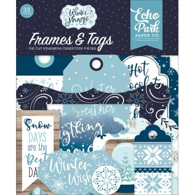Echo Park Winter Magic Die Cuts - Frames & Tags