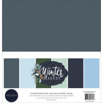 Carta Bella Winter Market Cardstock - Solids Kit