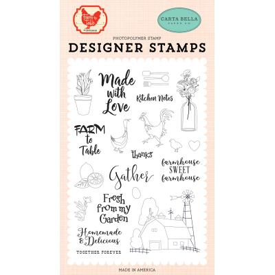 Carta Bella Farm To Table Clear Stamps - Gather