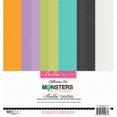 Bella BLVD Monsters & Friends Designpapier - Paper Kit