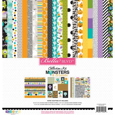 Bella BLVD Monsters & Friends Designpapier - Collection Kit