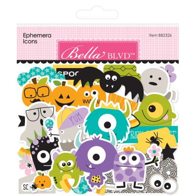 Bella BLVD Monsters & Friends Die Cuts- Ephemera Icons