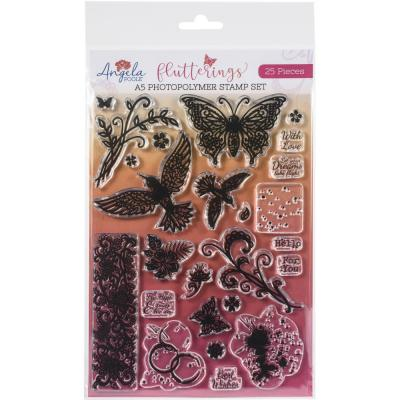 Angela Poole Clear Stamps - Flutterings