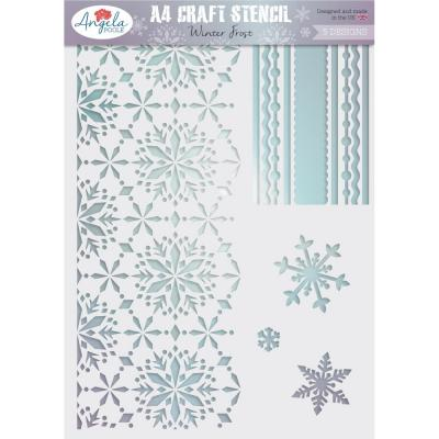 Angela Poole Craft Stencil - Winter Frost