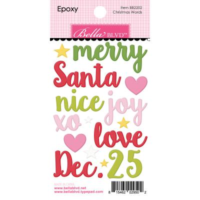 Bella BLVD Santa Squad Sticker - Christmas Words