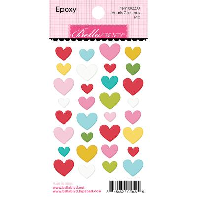 Bella BLVD Santa Squad Sticker - Hearts Christmas Mix