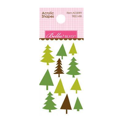 Bella BLVD Santa Squad Acrylic Shapes - Tree Mix