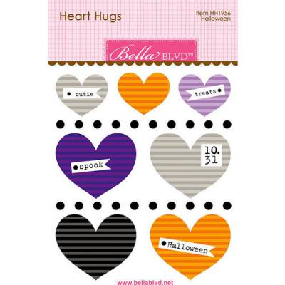 Bella BLVD Monsters & Friends Sticker - Halloween Heart Hugs