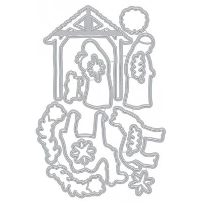 Hero Arts Frame Cut Dies -  Floral Nativity