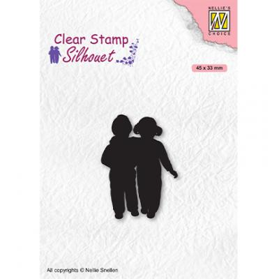 Nellie's Choice Clear Stamp - Silhouettes Close Friends