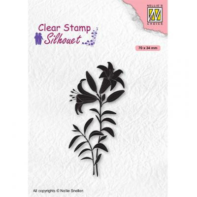 Nellie's Choice Clear Stamp - Silhouettes Lily