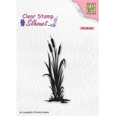 Nellie's Choice Clear Stamp - Silhouettes Bulrushes-2