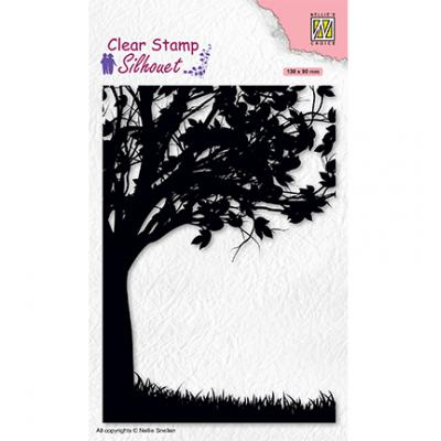 Nellie's Choice Clear Stamp - Silhouettes Tree-2