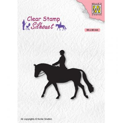 Nellie's Choice Clear Stamp - Silhouette Men-Things Horseman