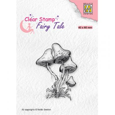 Nellie's Choice Clear Stamp - Fairy Tale Mushrooms