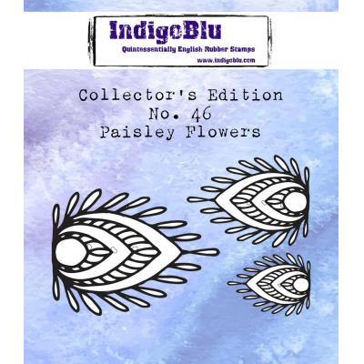 IndigoBlu Rubber Stamps - Paisley Flowers