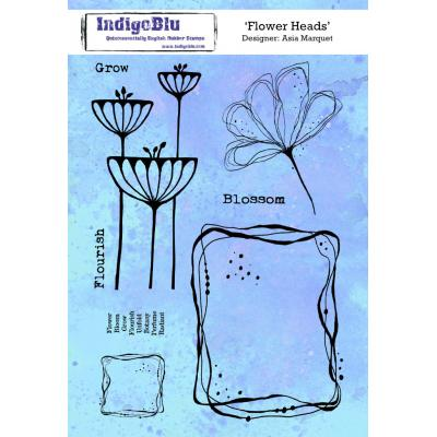 IndigoBlu Rubber Stamps - Flowers Heads