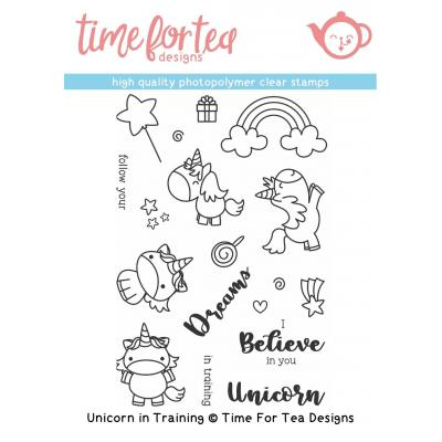 Time For Tea Clear Stamps - Unicorn In Training
