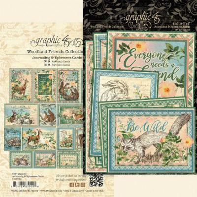 Graphic 45 Woodland Friends - Ephemera & Journaling Cards