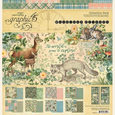 Graphic45 Woodland Friends Designpapier - Collection Pack