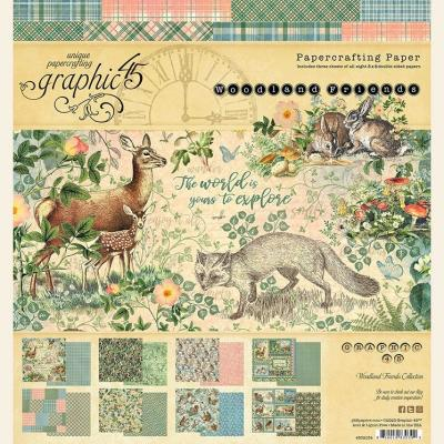 Graphic 45 Woodland Friends Designpapier - Paper Pad