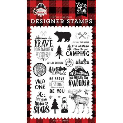Echo Park Let's Lumberjack Clear Stamps - Under The Stars