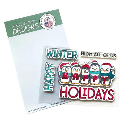 Gerda Steiner Clear Stamps - Happy Holiday Penguin