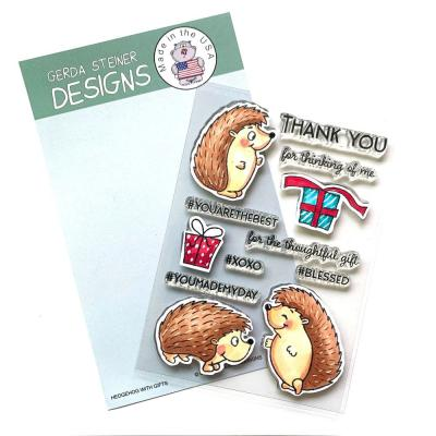 Gerda Steiner Clear Stamps - Hedgehog with Gifts