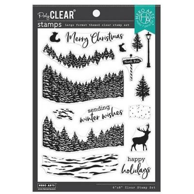 Hero Arts Clear Stamps - Winter Woods HeroScape