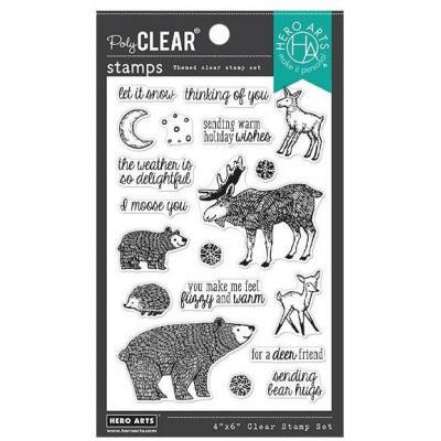 Hero Arts Clear Stamps - Fuzzy Winter Animals