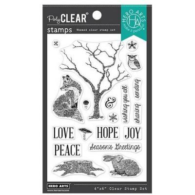 Hero Arts Clear Stamps - Winter Tree & Animals