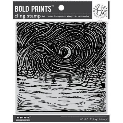 Hero Arts Cling Stamp - Etched Winter Scene Bold Prints