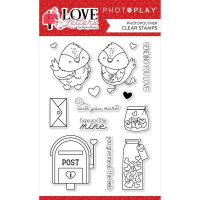 PhotoPlay Love Letters Clear Stamps - Love Letters