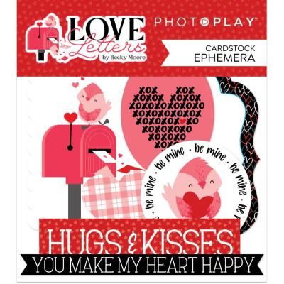 PhotoPlay Love Letters Die Cuts - Ephemera
