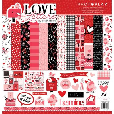 PhotoPlay Love Letters Designpapier - Collection Pack
