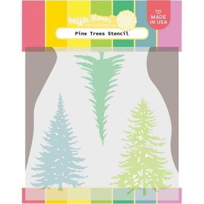 Waffle Flower Stencil - Pine Trees