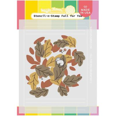 Waffle Flower Stencil - Fall For You