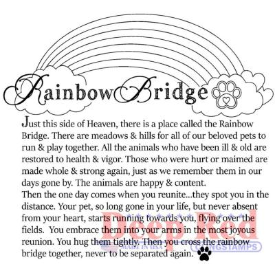 Deep Red Cling Stamps - Rainbow Bridge