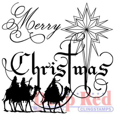 Deep Red Cling Stamp - Wise Men Christmas