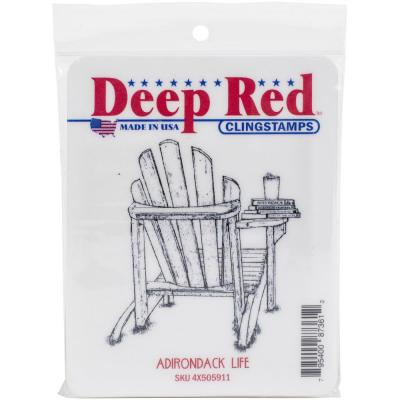 Deep Red Cling Stamp - Adirondack Life