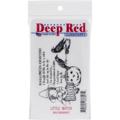 Deep Red Cling Stamp - Little Witch