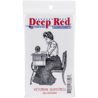 Deep Red Cling Stamp - Victorian Seamstress