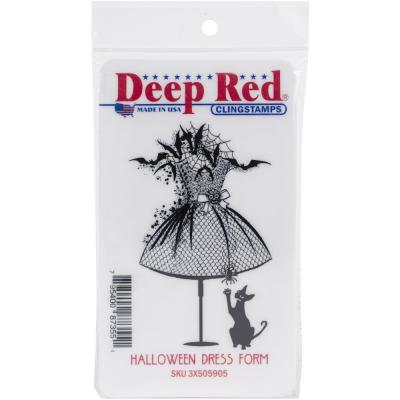 Deep Red Cling Stamp - Halloween Dress Form