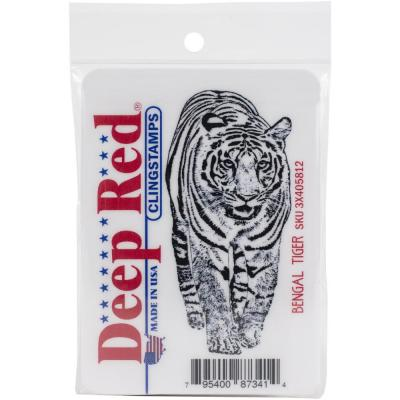 Deep Red Cling Stamp - Bengal Tiger