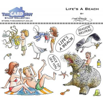 The Card Hut Great Outdoors Clear Stamps - Life's A Beach