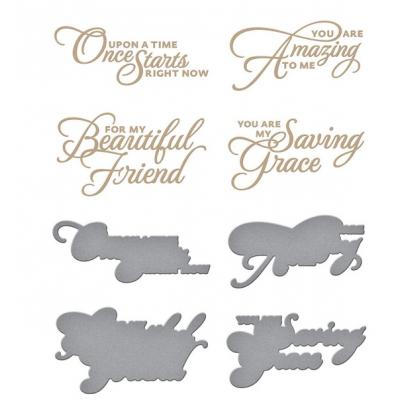 Spellbinders Glimmer Hot Foil Plates - Heart Melt Sentiments